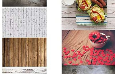 2 Pieces 4 Patterns Photographic Background Grunge Brick Cement Wall Background Food Photography Backdrop Blogger Shot Cosmetic Photo Flat Lay Backdrop ins Style Wood Textures Board Video Background