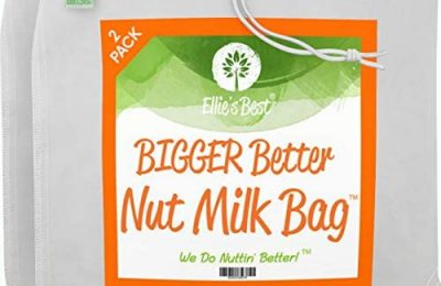 Pro Quality Nut Milk Bag – 2 XL12″X12″ Bags – Commercial Grade Reusable All Purpose Food Strainer – Food Grade BPA-Free – Ultra Strong Fine Nylon Mesh – Nutmilk, Juices, Cold Brew – Recipes & Videos