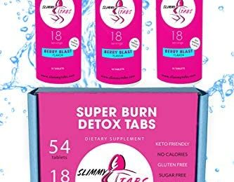 Slimmy Tabs Super-Burn Dissolvable Tablets – Natural Ingredients, Keto Friendly, No Calories, Gluten and Sugar Free, Vegan, Boosts Energy & Tastes Delicious! – 54 Tablets (Berry Blast Flavor)
