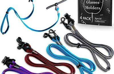 Eye Glasses String Holder Straps – Sports Sunglasses Strap for Men Women – Eyeglass Holders Around Neck – Glasses Retainer Cord Chains Lanyards