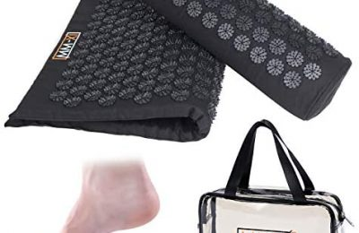 MM-XI Acupressure Body Mat, for Back and Neck Pain, Headaches and Stress Relief, Comes with Extra Comfortable Neck Pillow, Magnetic Insoles, and Carry Bag, Extra Spikes