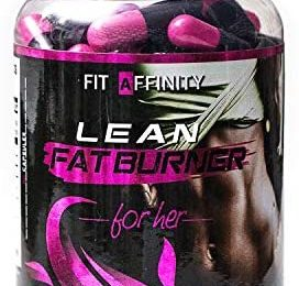 FIT AFFINITY: Lean Fat Burner for Her – Made for Women • Best All Natural Weight Loss Pills – Thermogenic Fat Loss Supplement & Appetite Suppressant Diet Pills – 45 Day Supply (90 Capsules)