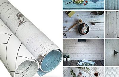35x23Inch 2 Rolls of Instagram Backdrop with 4 Styles for Flat Lay Backdrops, Food Background, Blogger Photos or Videos