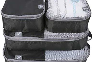Travelon: Set of 4 – Soft Packing Organizers – Black