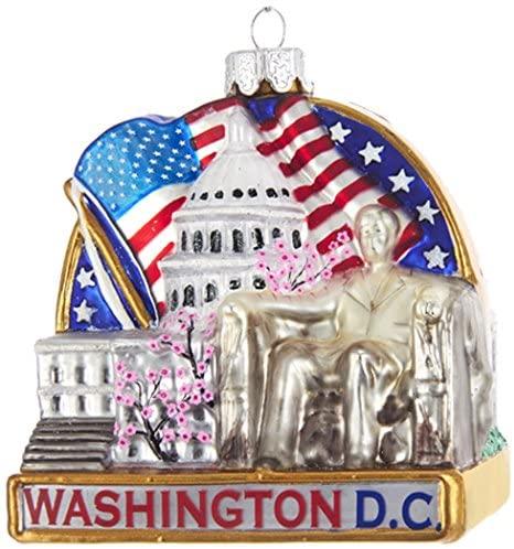 "Kurt S. Adler Kurt Adler 3.7"" Washington DC Cityscape Glass Ornament"