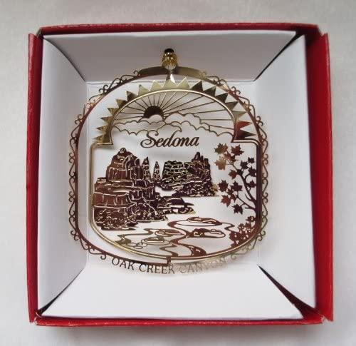 Nations Treasures Sedona Arizona Brass Christmas Ornament Souvenir