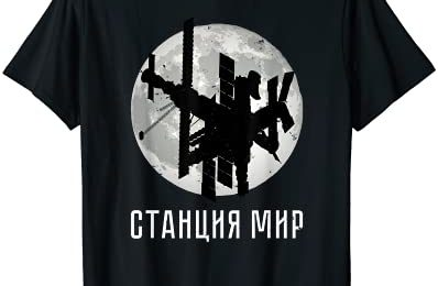 Mir space station Soviet Russian space travel space T-Shirt