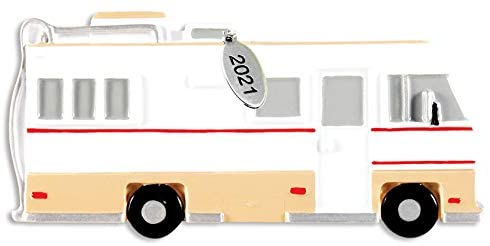 Camper Ornament - RV Christmas Ornament 2021 - Great Camper Gifts - Easy to Personalize at Home - Comes in A Gift Bag So It's Ready for Giving