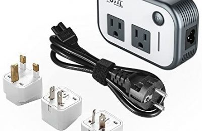 Foval Power Step Down 220V to 110V Voltage Converter with 4-Port USB International Travel Adapter for China UK European Etc – [Use for US appliances Overseas]