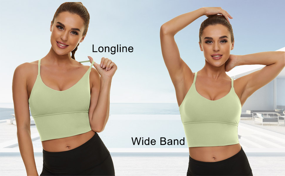 Padded Sport Bra for Women Longline Camisole racerback high impact compression seamless wirefree XL