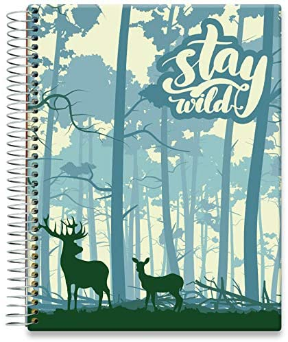 Tools4Wisdom Hardcover Planner 2021-2022 • April 2021 to June 2022 Calendar - 8.5 x 11 Full-Color Daily Academic Planner - Vertical Weekly Planner Layout - Q2S15 - Stay Wild Forest Cover
