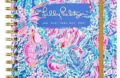 Lilly Pulitzer Large 2021 Planner Weekly & Monthly, Dated Jan 2021 – Dec 2021, 12 Month Hardcover Agenda with Notes/Address Pages, Colorful Stickers, Pocket, & Laminated Dividers, Treasure Trove