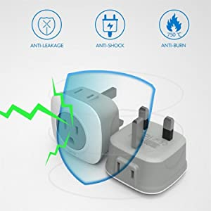 2 IN 1 Type G Travel Plug Adapter