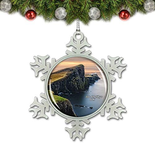 Umsufa UK England Scotland Isle of Skye Christmas Ornament Tree Decoration Crystal Metal Souvenir Gift