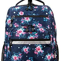 J World New York Sundance Laptop Rolling Backpack, Navy Rose, One Size