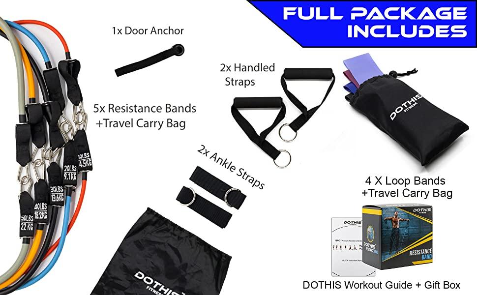 handle ligas work loop resistant fabric workouts waterproof pesas dumbell ez suspension kit handles