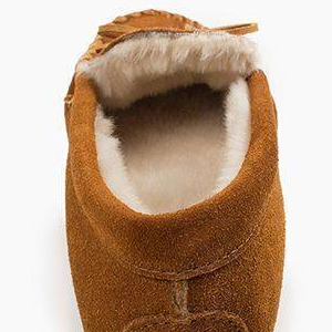 microsuede pile lined size wide width leather soleless casual modern indoor outdoor house houseshoe