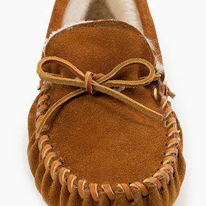 shoe loafer men guy teen warm suede microsuede pile lined size wide width leather soleless