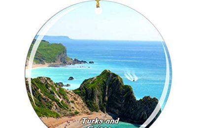 Weekino Providenciales Turks and Caicos Christmas Ornament City Travel Souvenir Collection Double Sided Porcelain 2.85 Inch Hanging Tree Decoration