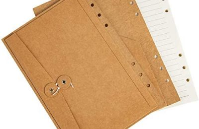 Binder Journal Refill Inserts, A5 Size Lined / Ruled Pages, 6 x 8 Inch,180 Pages for Travel Journals, Diaries, Planners