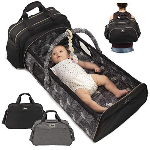 Infant Baby Travel Bed - Portable Bassinet Diaper Bag - Babies Nest Co Sleeper