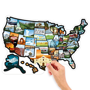 RV state sticker stickers decal decals map usa us united states visited 50 travel camper