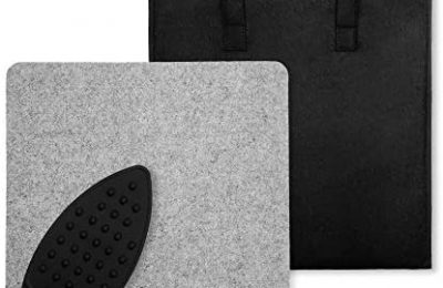 14″x14″ Wool Pressing Mat for Quilting with Carrying Case and Iron Rest Pad | Perfect for Classes, Meetings and Travel | 100% New Zealand Wool Felted Ironing Pad