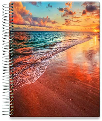 Tools4Wisdom Daily Planner 2021-2022 - April 2021 to June 2022 Calendar - 8.5 x 11 Hardcover - Full-Color - Academic Planner - Vertical Weekly Planner Layout - Q2S15 - Sandy Sunset