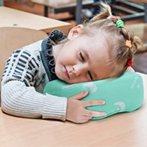 RESTCLOUD Kids Travel Neck Pillow for Airplane, Head and Neck Support for Kids Age 3 to 10