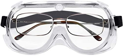 B.ANGEL Safety Glasses Over-Spec Design with Clear Anti-Fog Lens