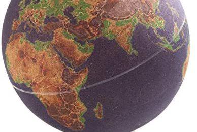 Suck UK LARGE DESKTOP CORK PUSH PINS INCLUDED   EDUCATIONAL WORLD MAP   TRAVEL ACCESSORIES   ADVENTURE & MEMORIES DISPLAY   Globe, Multicolour
