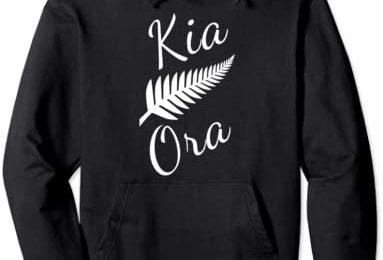 Kia Ora Maori Greeting New Zealand Pride Silver Fern Travel Pullover Hoodie