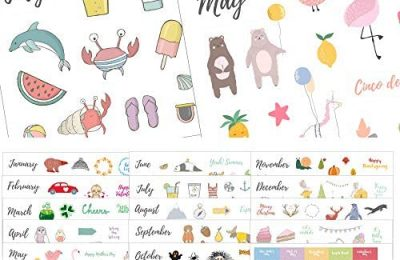 Seasons & Holidays Planner Stickers Value Pack – 16 Sheets, Cute Custom Scrapbook & Planner Stickers, Fun Supplies for Bullet Dotted Journals, Christmas, Easter, Halloween, Birthdays by Sunny Streak