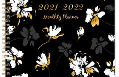 2021-2022 Monthly Planner – 18-Month Planner Start in July 2021 not January 2021, Jul. 2021 – Dec. 2022, Floral Calendar Planner with Tabs & Double Side Pocket & Label, Contacts and Passwords, 9″x 11″, Twin-Wire Binding