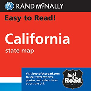 Rand McNally Easy To Read: California State Map
