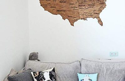 Wooden Wall Map United States Map Large Map of USA wood birch gift Housewarming for couple new home home decor Office decor Wall decor Dorm Living room By Enjoy The Wood 150 х94 100×61