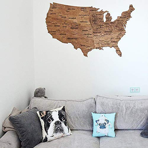 Wooden Wall Map United States Map Large Map of USA wood birch gift Housewarming for couple new home home decor Office decor Wall decor Dorm Living room By Enjoy The Wood 150 х94 100x61
