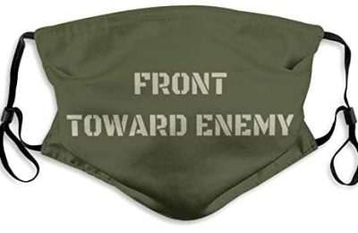 Front Toward Enemy Military Co-Vid Dust Masks Reusable Adjustable Balaclava with 2 Filter