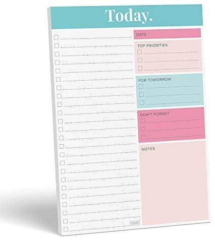 "Sweetzer & Orange Daily Planner 2020-2021, Undated Planner To Do List Notepad. 7x10"" Day Planner Note Pad. Checklist Productivity Organizer, Work Planner, Academic Planner, Daily To Do List Planner"