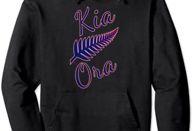 Kia Ora Maori Greeting New Zealand Pride Silver Fern Travel Pullover Hoodie
