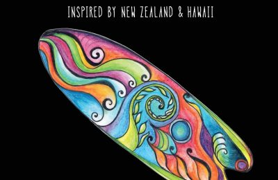 A Surfer's Colouring Book: Inspired by New Zealand & Hawaii – Respect the Ocean & Use Less Plastic (Colouring Books for Children and Adults)