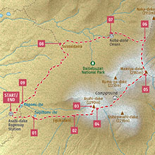 Lonely Planet Best Day Hikes Japan; map