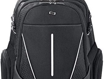 Solo New York Rival 17.3 Inch Laptop Backpack with Hardshell Side Pockets, Black