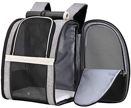 Texsens Pet Backpack Carrier for Small Cats Dogs | Ventilated Design, Safety Straps, Buckle Support, Collapsible | Designed for Travel, Hiking & Outdoor Use