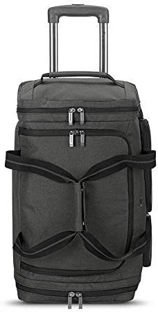 Solo New York Leroy Carry-On Wheeled Duffle Bag, 49L Capacity, Grey, 22 Inch