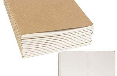 """24 Pack Journal Notebook Blank Sketch Notebooks for Travelers, Students, Office – Diary Notebook Subject Notebooks Planner – A5 Size, 8.26""""x5.5"""", 60 Blank Pages/30 Sheets By ZMYBCPACK"""