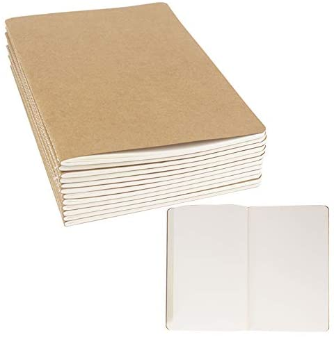 """24 Pack Journal Notebook Blank Sketch Notebooks for Travelers, Students, Office - Diary Notebook Subject Notebooks Planner - A5 Size, 8.26""""x5.5"""", 60 Blank Pages/30 Sheets By ZMYBCPACK"""