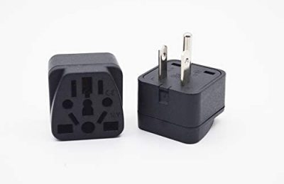 Wall Outlet Power Charger Converter, International Travel Adapter and Converter,EU/UK/AU Conversion Plug to US, American Wall Three-jaw grounding (B Type) Power Adapter
