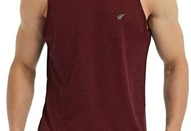 EZRUN Men's Tank Tops Quick Dry Workout Sleeveless Shirts for Bodybuilding Gym Jogging Running Fitness Training