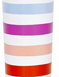 Kate Spade New York Colorful Insulated Stainless Steel Tumbler, 24 Ounce Double Wall Travel Cup with Lid, Candy Stripe